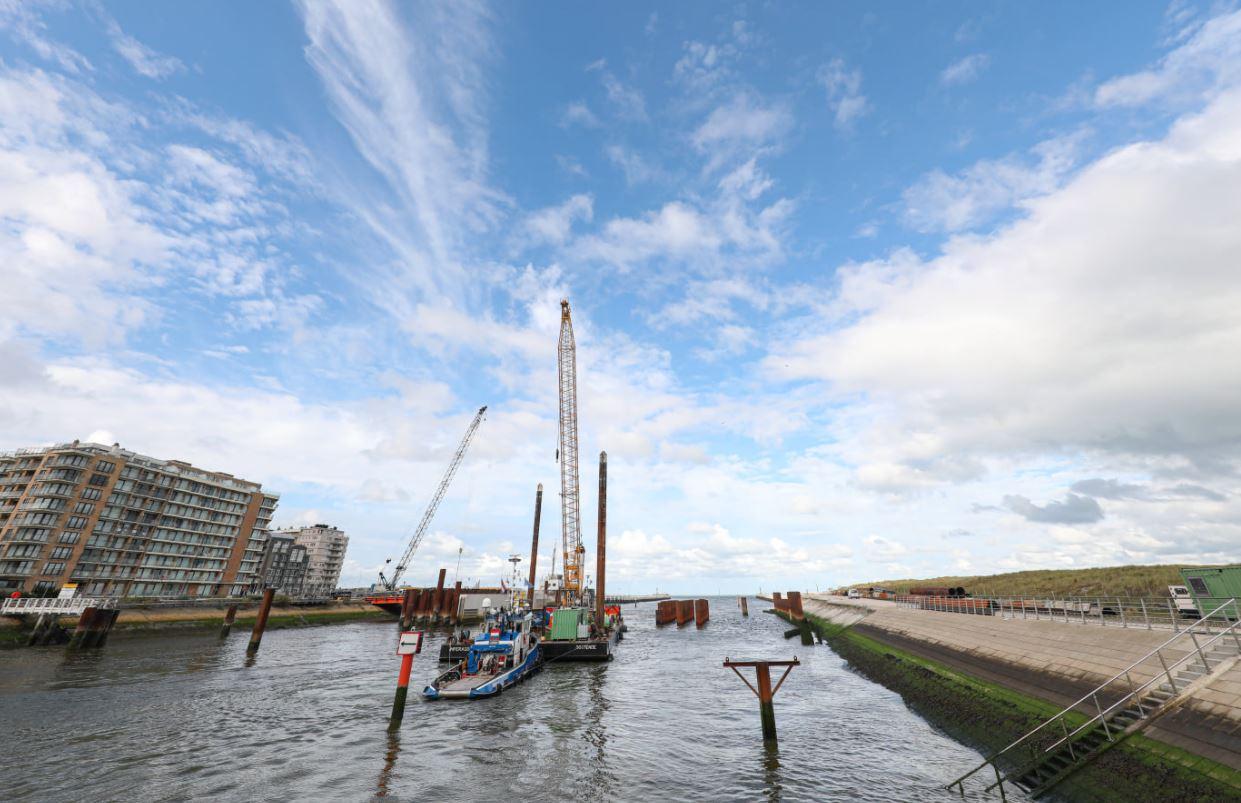 Nieuwpoort works underway