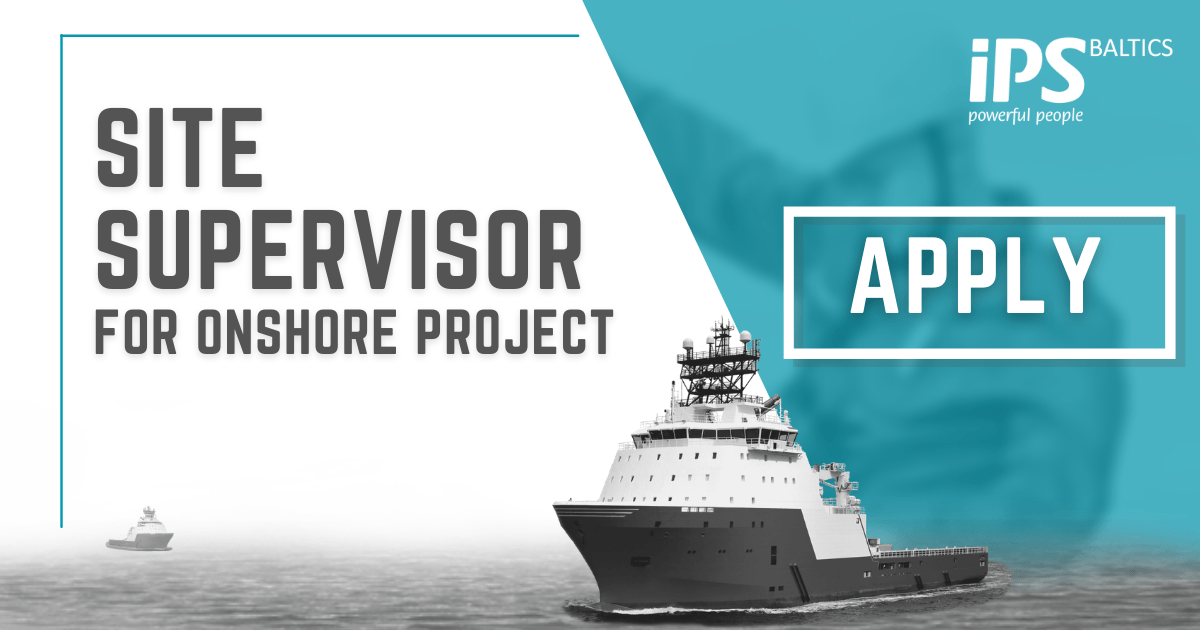 Site Supervisor for Onshore project