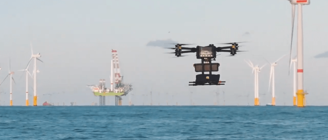 DEME Tests AI-Backed Drone Ops at Rentel Offshore Wind Farm