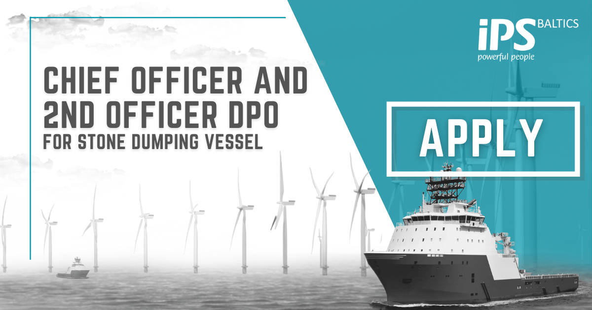 Chief Officer and 2nd Officer DPO for Stone Dumping vessel