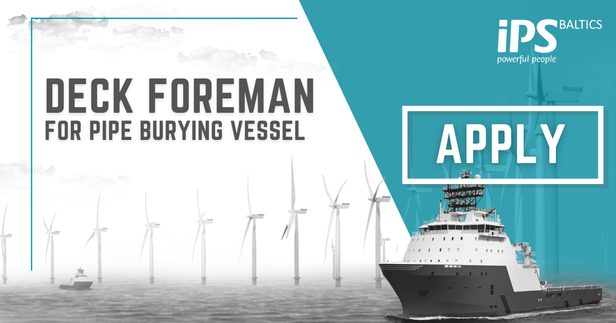 Deck Foreman for Pipe burying vessel