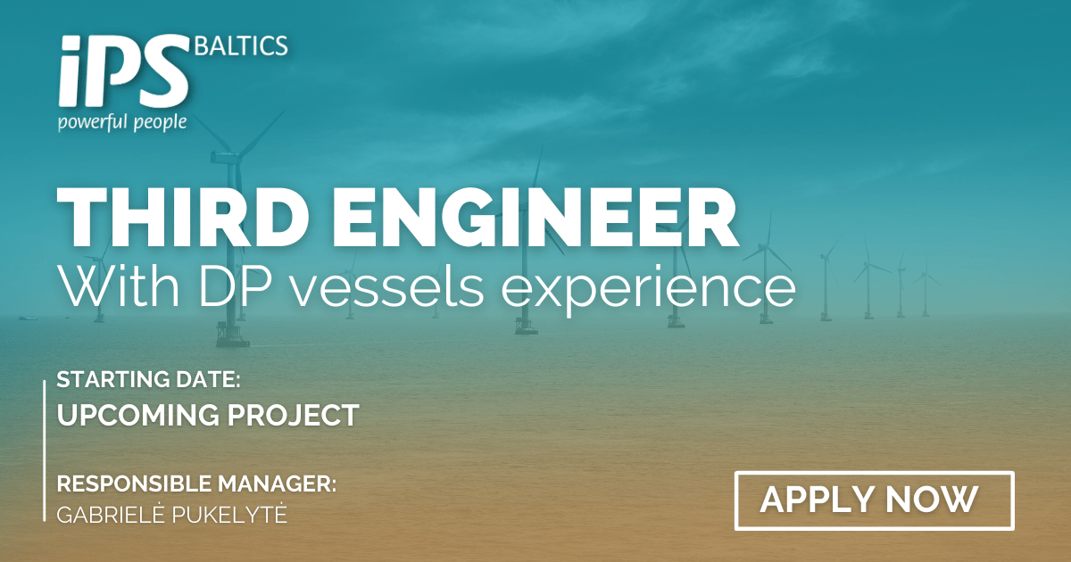3rd Engineer with Offshore experience