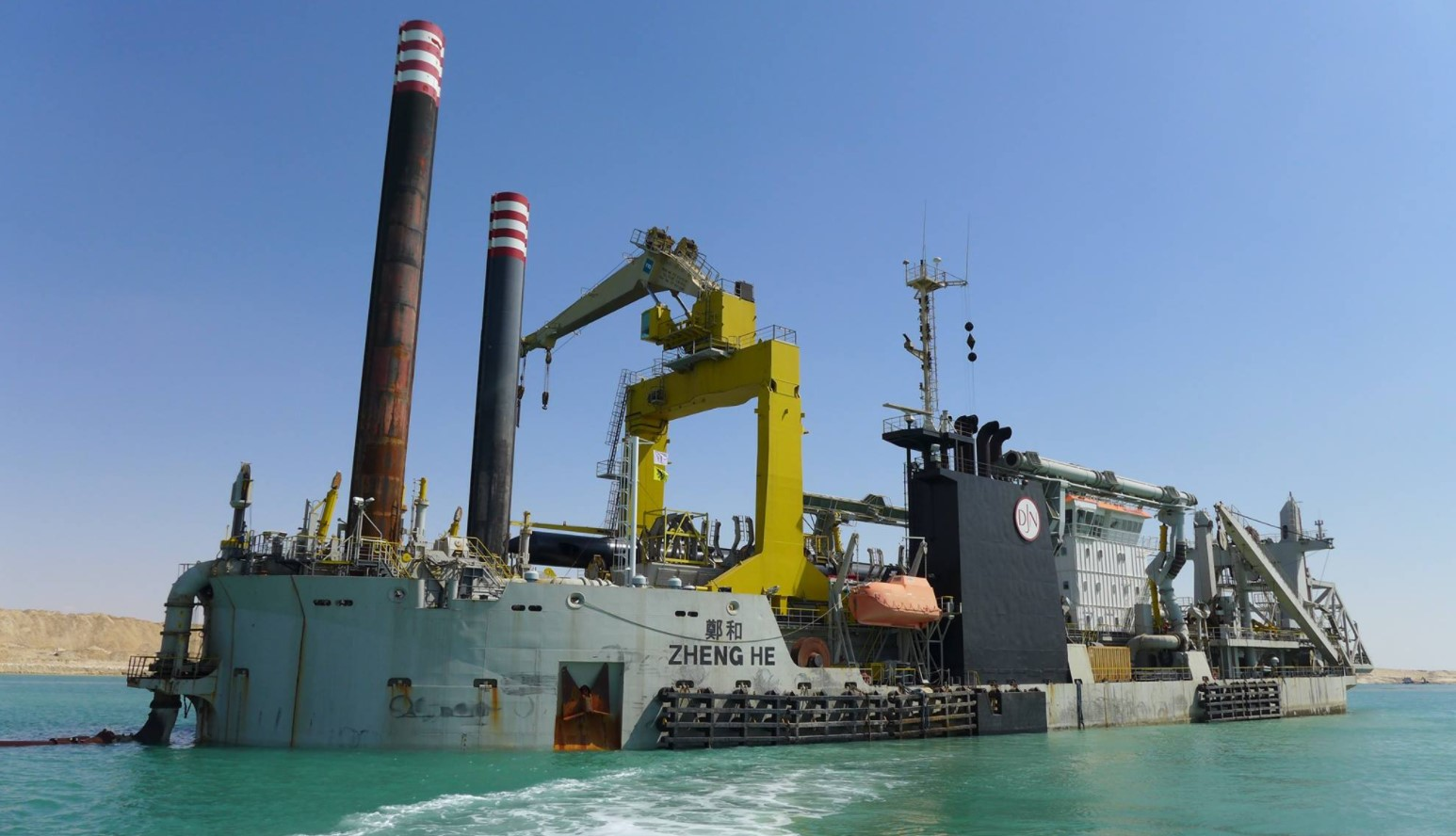 Dredging the new Suez Canal
