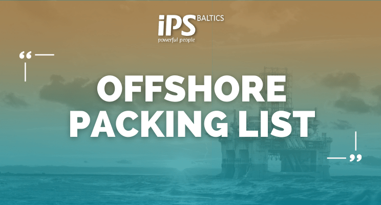 Offshore packing list