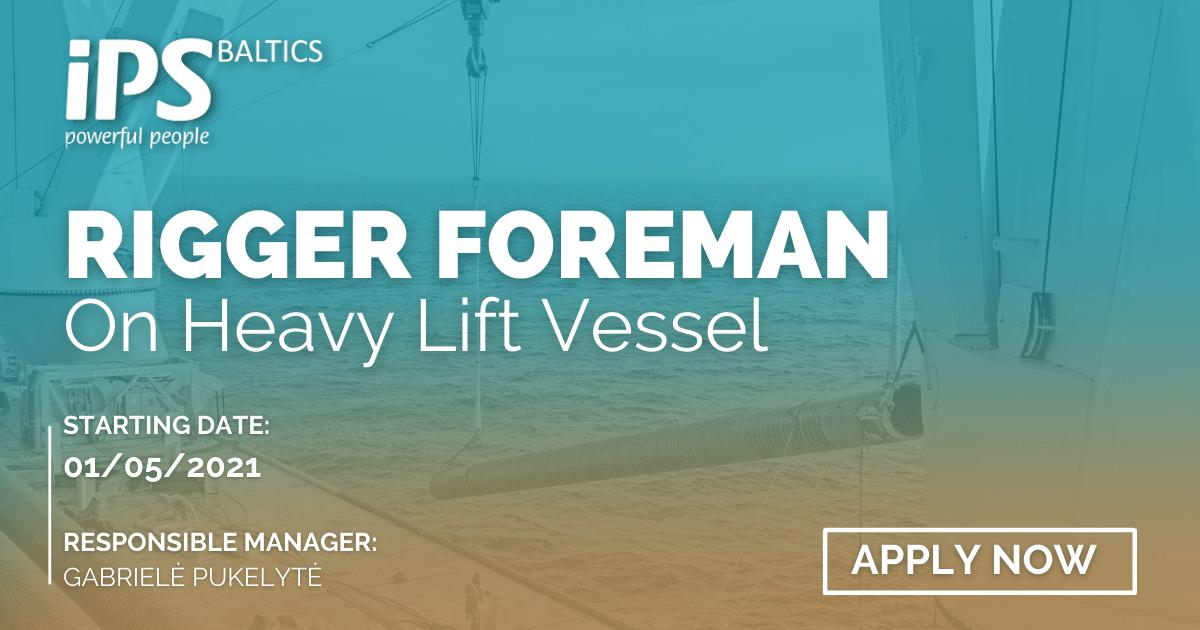 Rigger Foreman for HLV