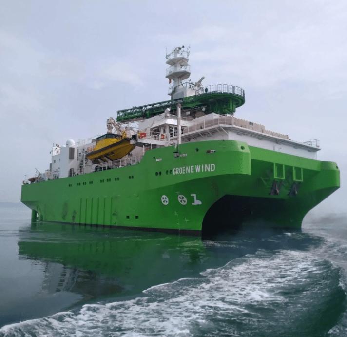 DEME's First Service Operation Vessel Starts Sea Trials