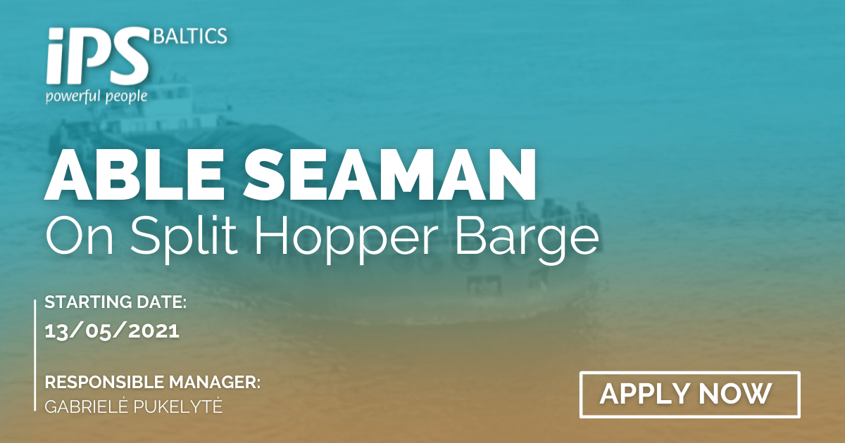 Able Seaman for Split Hopper Barge