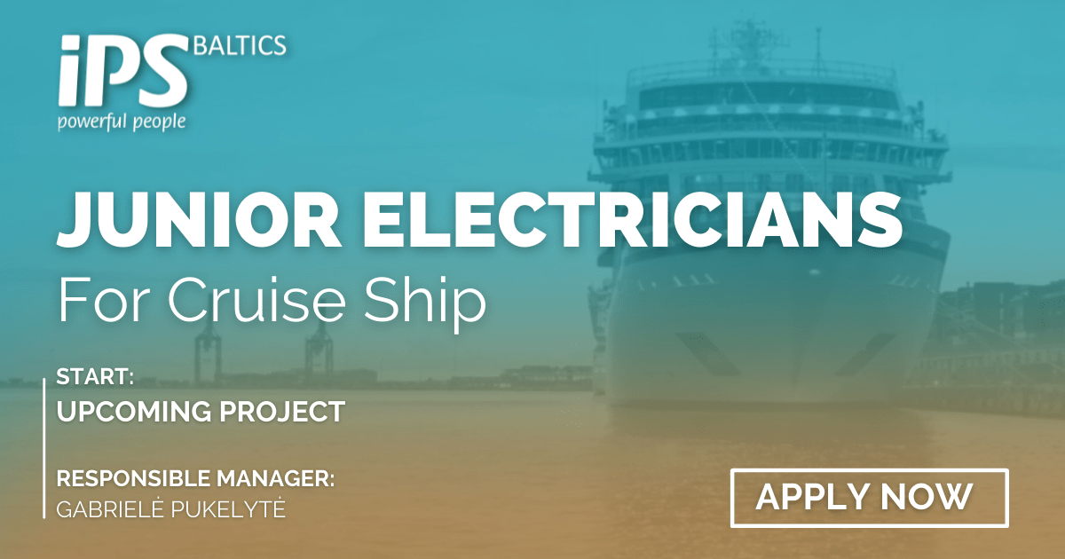 Junior Electrician for Cruise ship