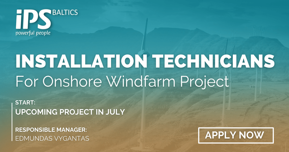 Installation Technicians for Onshore Windfarm Project
