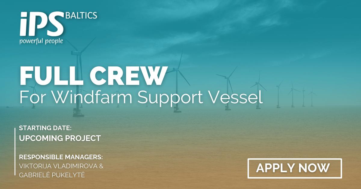 Full Crew for OSV DP vessel