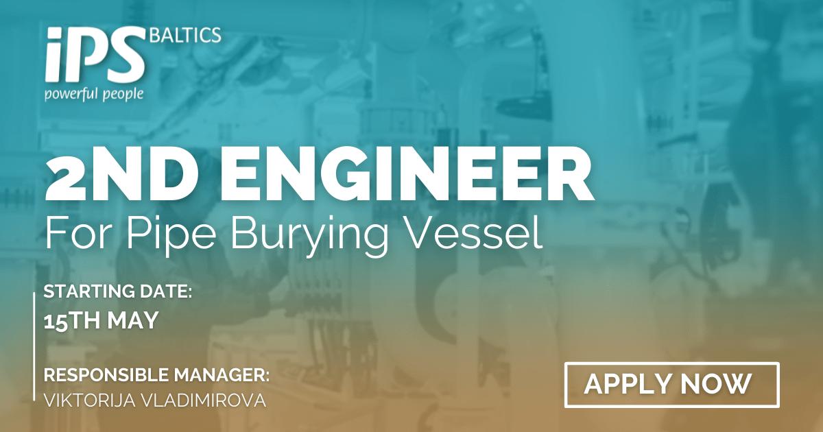 2nd Engineer for Pipe Burying vessel