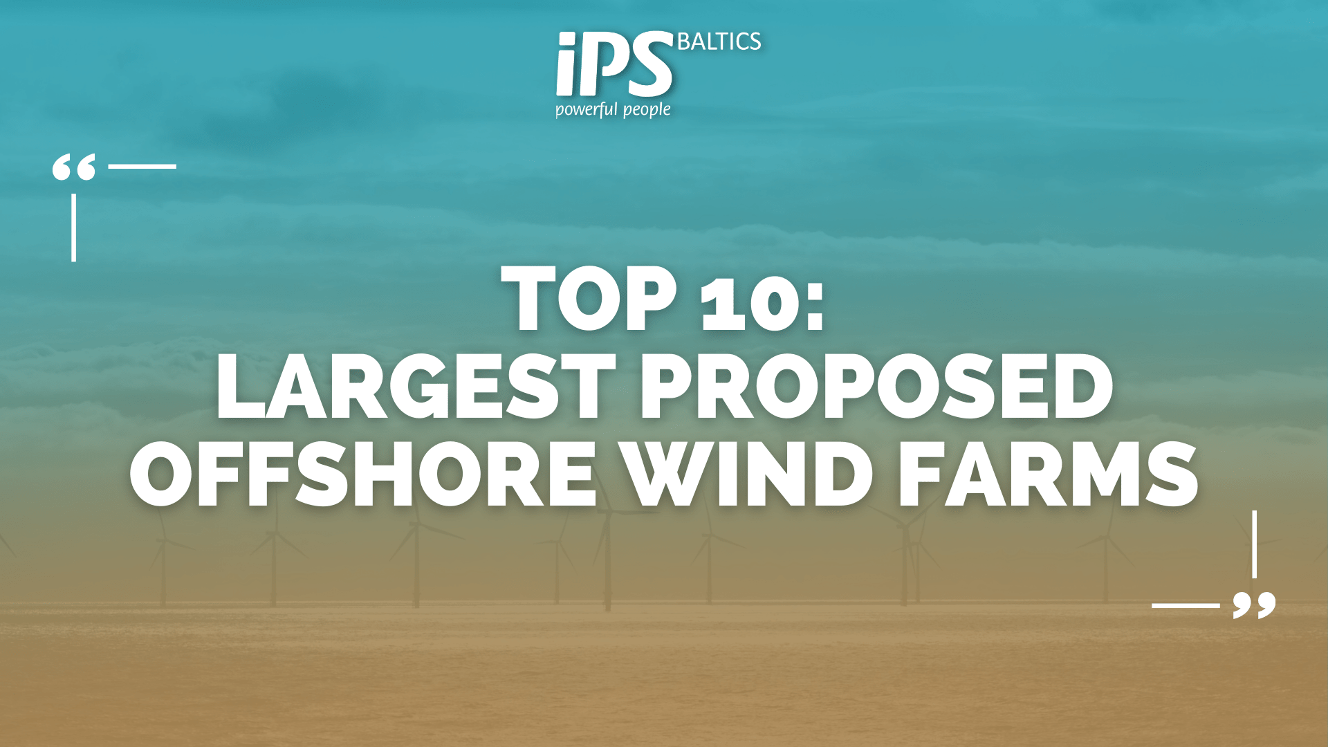 Top 10 largest proposed offshore wind farms