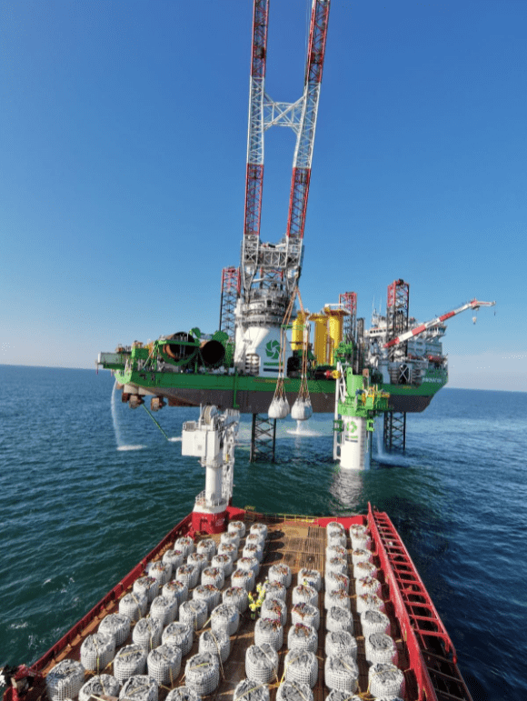 Industry First: DEME Drills XL Monopile into French Seabed