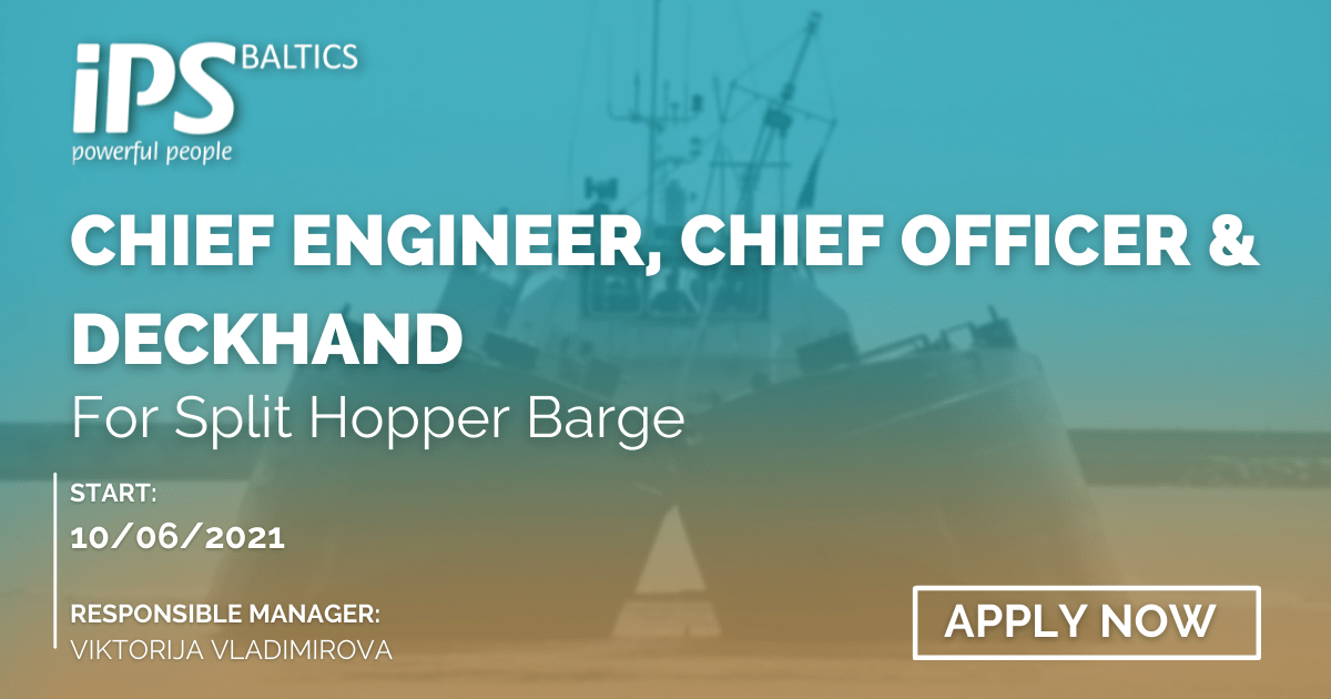 Chief Engineer, Chief Officer and Deckhand on SHB