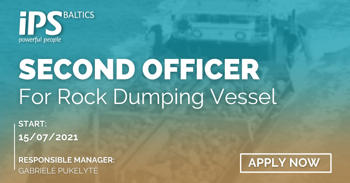 2nd Officer for Rock Dumping Vessel