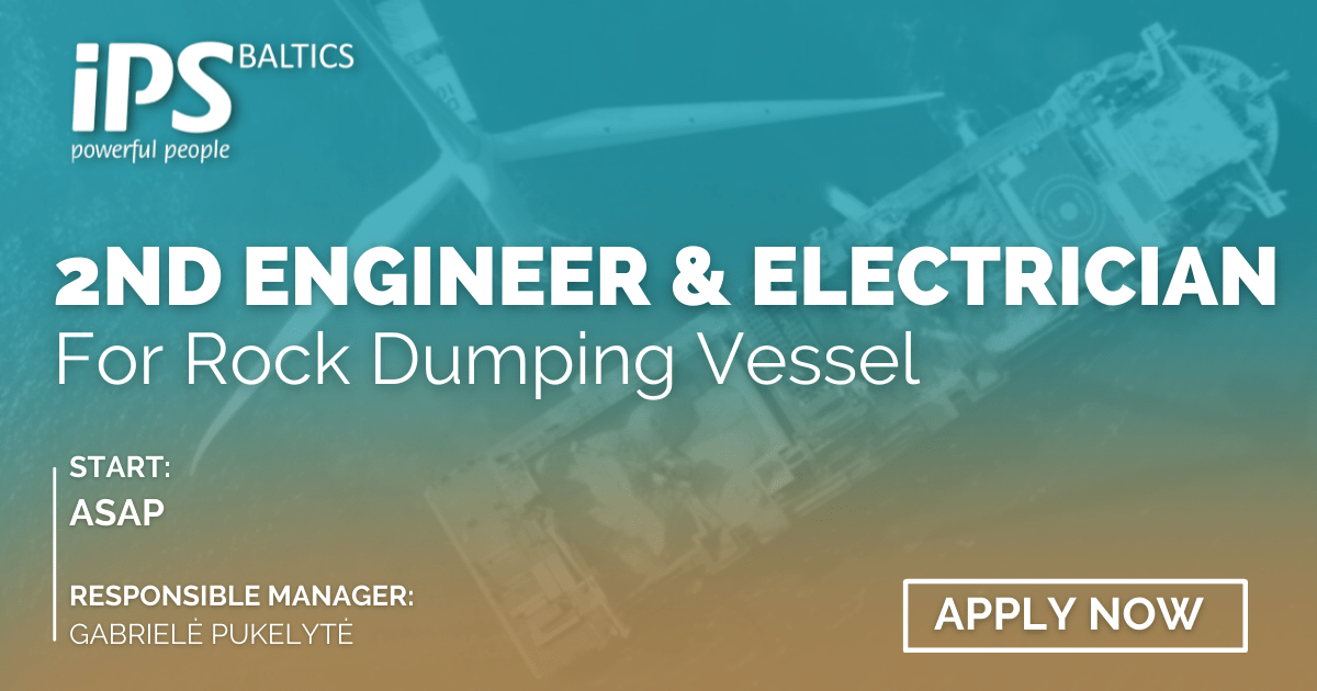 2nd Engineer and Electrician for Rock Dumping Vessel