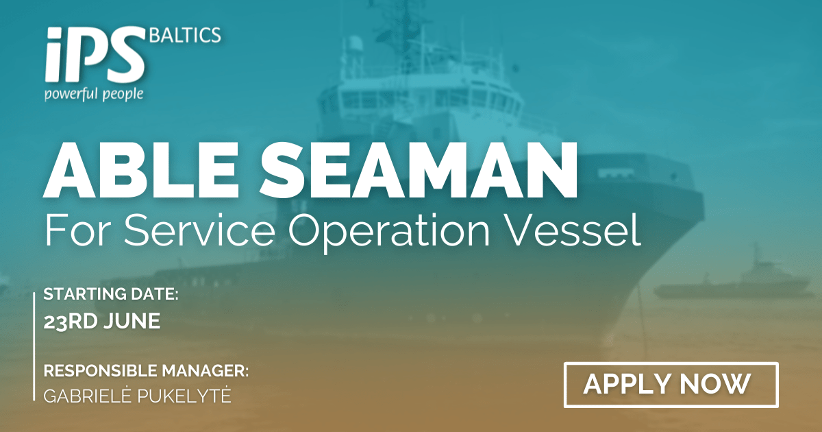 Able Seaman for Service Operation Vessel
