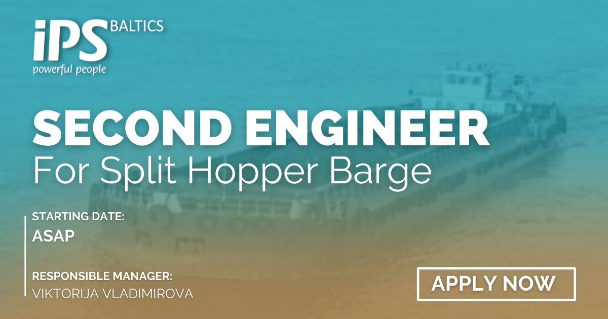 2nd Engineer for Split Hopper Barge