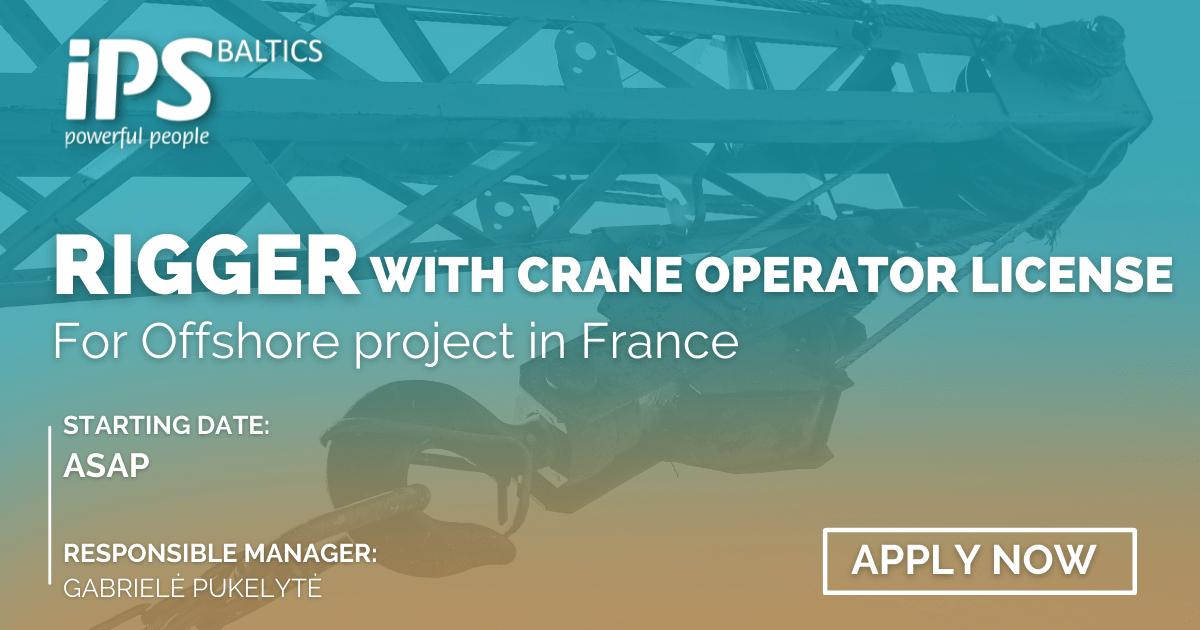 Rigger with Crane Operator License