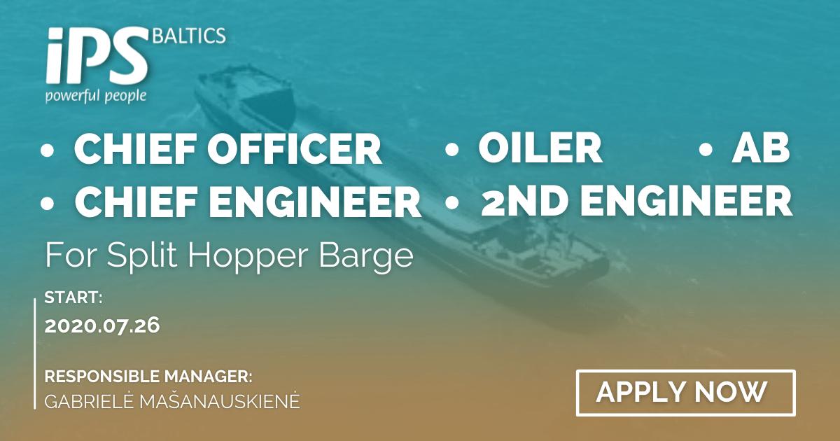 Crew for Split Hopper Barge