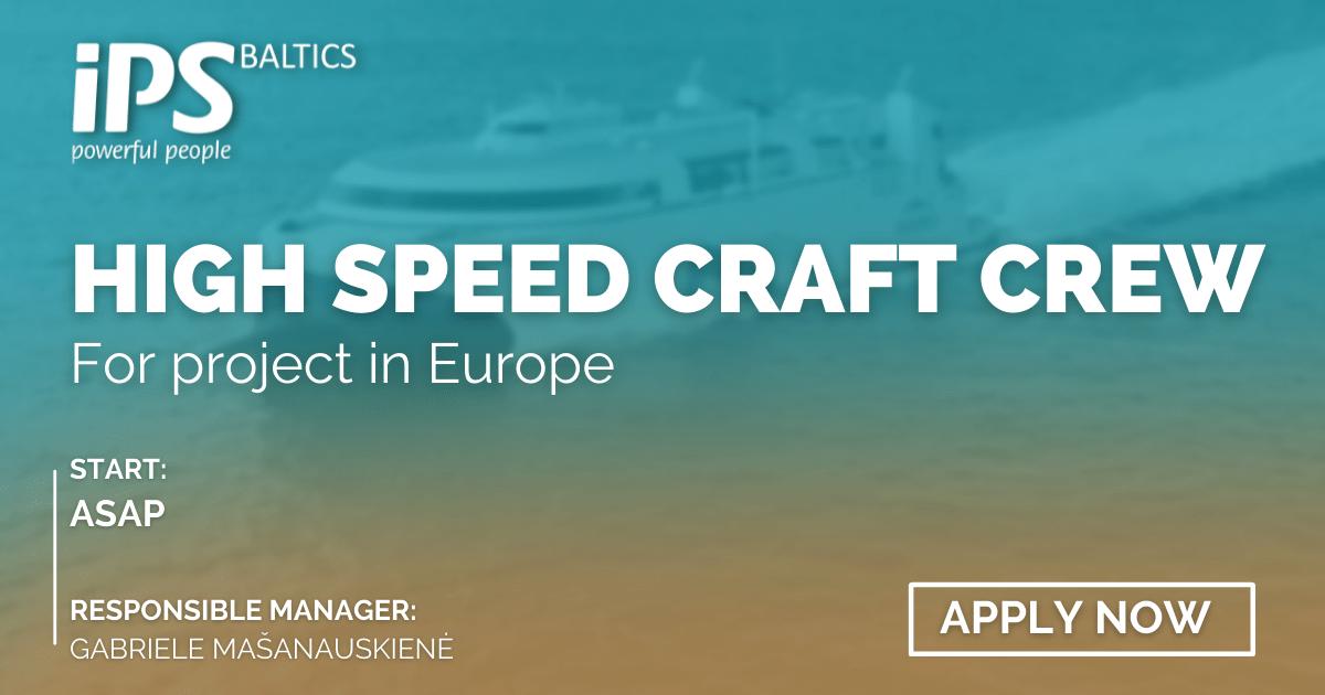 High Speed Craft Crew
