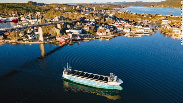 World's first crewless, zero-emissions cargo ship will set sail in Norway