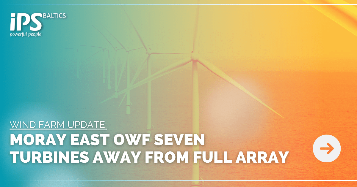 Moray East Offshore Wind Farm Seven Turbines Away from Full Array